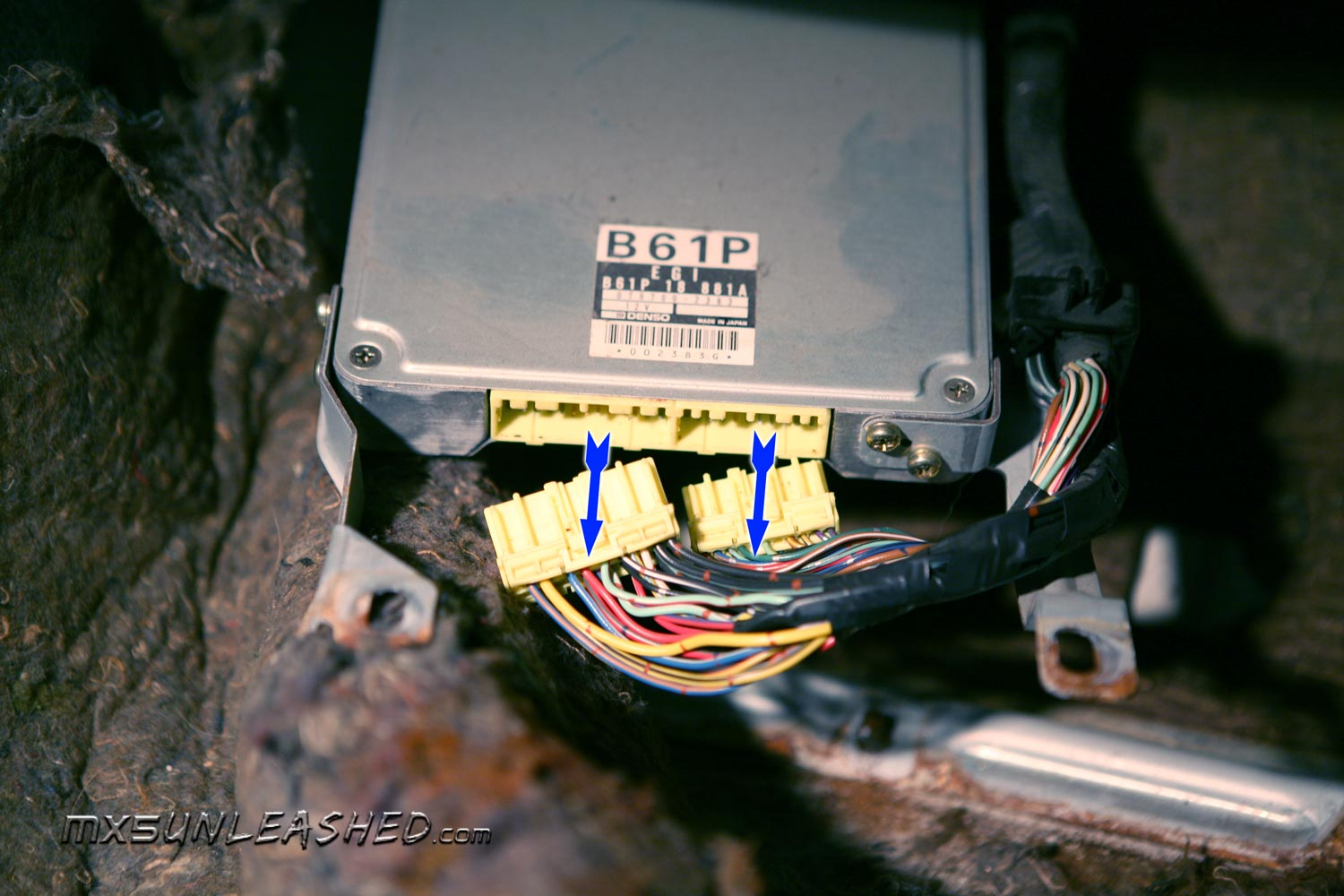 Mx 5 Unleashed Mega Squirt Pnp Installation Instruction For Eunos 1992 Miata Fuse Box Unplug Old Ecu