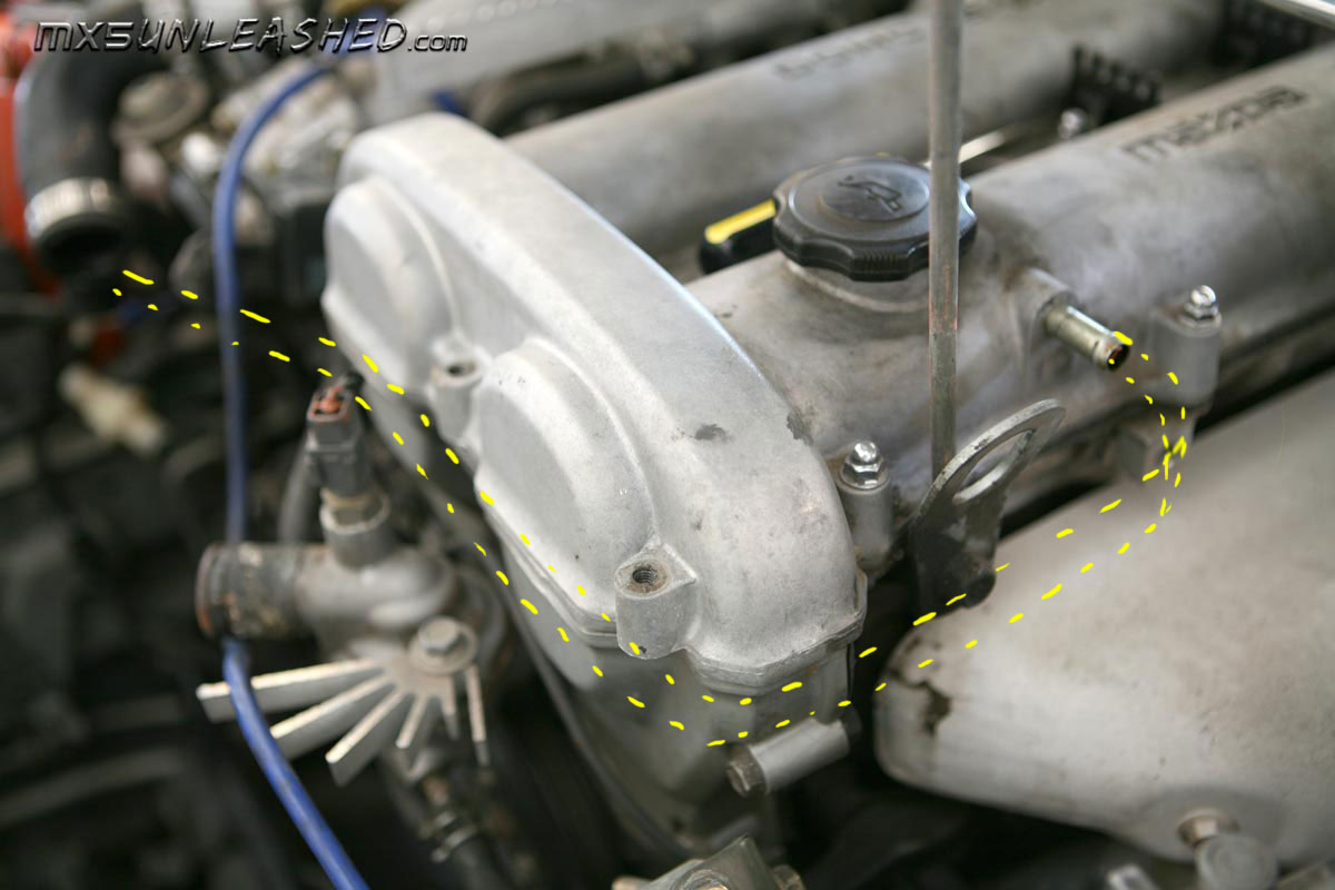 Mx 5 Unleashed Changing Of The Timing Belt Cambelt Water Pump 99 Miata Fuel Filter Location On Pcv Valve