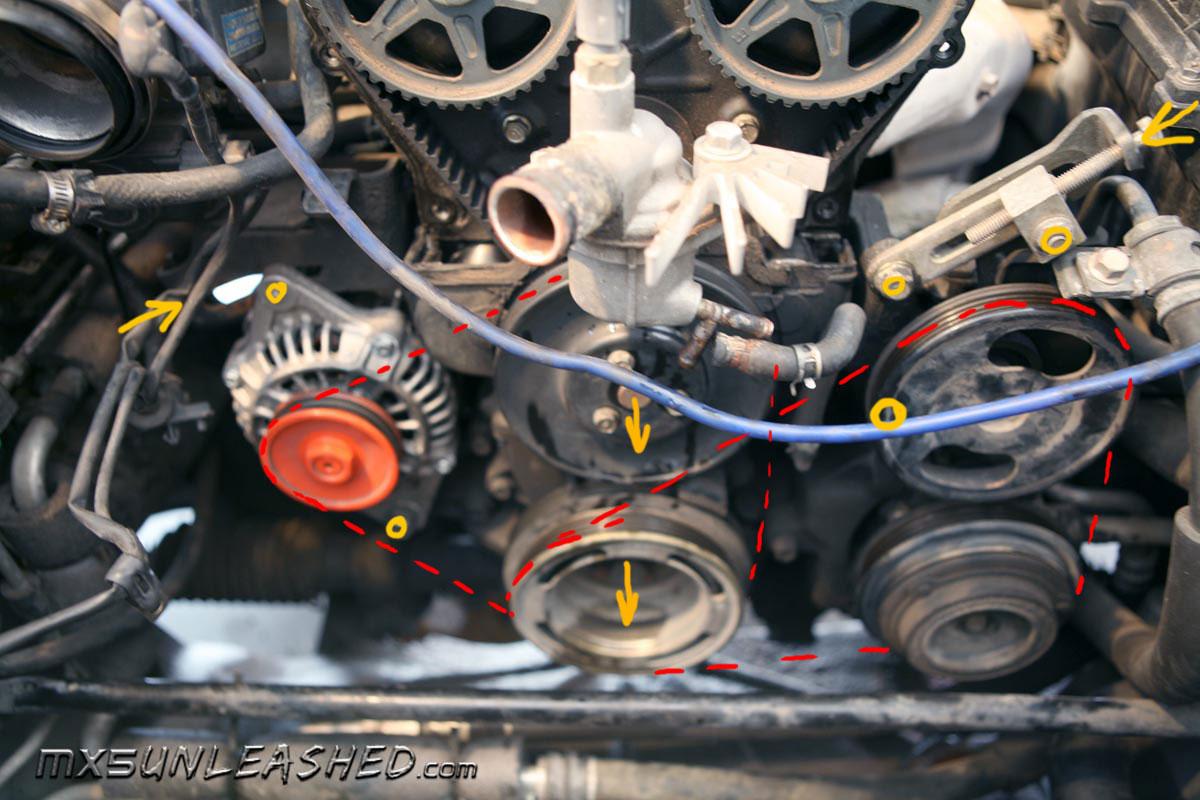 Mx5 Mk 2 Nb Power Steering Pump Failure Page 1 Mazda Eunos 1991 Rx 7 Engine Diagram